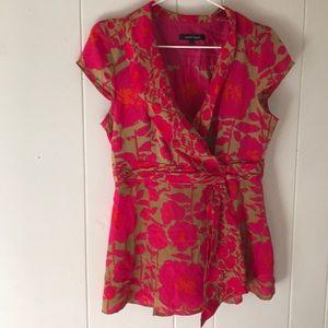NANETTE LEPORE size 8 floral blouse